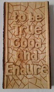 "Länk till ""To be True Good and Endure"""
